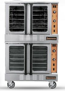 Sierra Srco 2 Convection Oven Double Stack Natural Gas Standard Depth