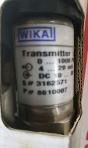 New Old Stock In Box Wika Pressure Transmitter S 10 0 To 1000psi 4 20ma