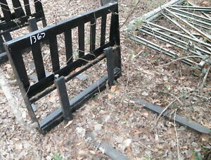 42 Skid Steer Tractor Universal Coupler Fork Attachment 2500lbs
