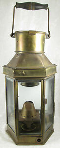 Alderson Gyde Brass Ship Oil Lamp Lantern Nautical Birmingham England Vintage