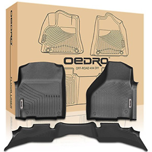 Oedro Floor Mats Liners Compatible For 2013 2018 Dodge Ram 1500 Quad Cab Black