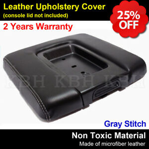 Leather Console Lid Cover Chevy Silverado Gmc Sierra 14 18 Jump Seat Gray Stitch