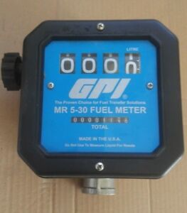 Gpi Mr5 30 Mechanical Disk Fuel Flowmeter 1 5 inch Inlet outlet Litres