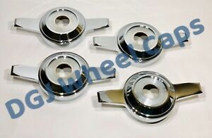 Zenith Cut Chrome Knock Off Spinners For Lowrider Wire Wheels M
