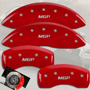 1998 2000 Lexus Gs400 Front Rear Red mgp Brake Disc Caliper Covers 4pc Set