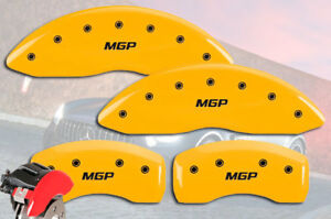2012 2013 Mercedes Benz S550 Front Rear Yellow Mgp Brake Disc Caliper Covers