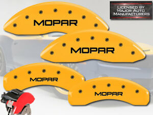2005 2010 Jeep Grand Cherokee Front Rear Yellow mopar Mgp Brake Caliper Covers
