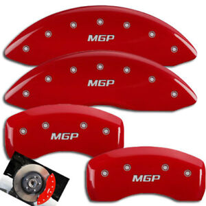 2007 2008 Audi Rs4 Front Rear Red Engraved Mgp Brake Disc Caliper Covers 4pc