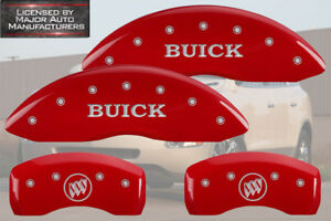 2012 2017 Buick Enclave Front Rear Red Mgp Brake Disc Caliper Covers Shield
