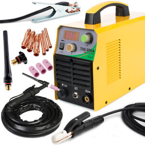 Tig 220v Dc Inverter 200amp Argon Gas Wig Arc Stick Mma Welding Machine Welder