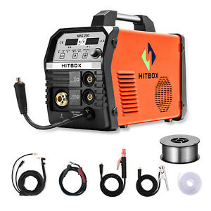 Hitbox Mig Welder 200amp Inverter Mig Arc Lift Tig Gas Gasless Welding Machine