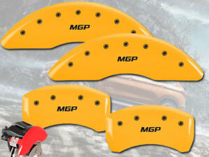 2011 2016 Bmw 535i Front Rear Yellow Mgp Brake Disc Caliper Covers 4pc Set