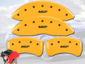 2000 2006 Bmw X5 3 0i 4 4i Front Rear Yellow Mgp Brake Disc Caliper Covers 4pc