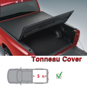 5 0 Ft Bed For Toyota Tacoma 2016 2019 Tri Fold Truck Tonneau Cover