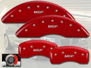 2008 Bmw 535xi Base Front Rear Red Mgp Brake Disc Caliper Covers 4pc Set