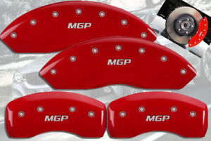 2007 Bmw 328i Base Front Rear Red Mgp Brake Disc Caliper Covers 4pc Set