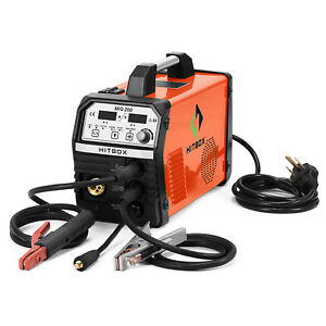 Mig200 200amp 220v Welder Inverter Mig Welding Machine Stick Mma Lift Tig Welder