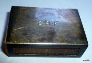 Vintage Tiffany Co Sterling Silver Matchbox Holder Cover