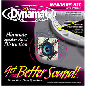Dynamat Xtreme 1 4 Sq Ft Speaker Kit 2 Pcs 10 x10