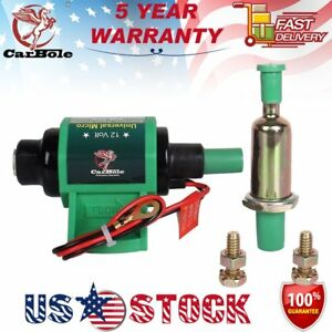 Universal 5 16 Inch 35gph 4 7psi 12v Electric Fuel Transfer Booster Diesel Pump