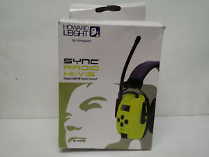 Howard Leight By Honeywell Sync Hi visibility Digital Am fm Radio Earmuff 10303