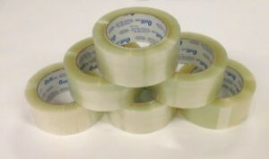36 Rolls Carton Sealing Clear Packing Tape Box Shipping 2 Mil 2 X 109 Yards