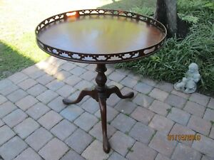 Antique Baker Furniture Allegan Mich Round Accent Table