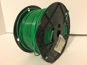 Stranded Copper Wire 600 Volts 500 Ft 15 Mil Insulation Green