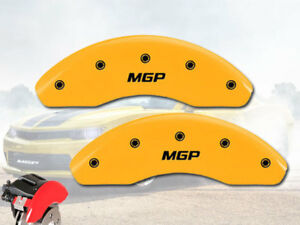 1980 1990 Chevy Caprice Front Yellow mgp Brake Disc Caliper Covers 2pc Set