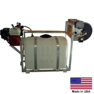 Sprayer Commercial Skid Mounted 100 Gallon Tank 9 5 Gpm 580 Psi 5 5 Hp Hy
