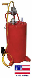 Gas Fuel Caddy Commercial 25 Gallon Ul Osha Approved Rotary Hand Pump