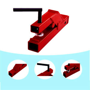 Clamp On Trailer Hitch 2 Ball Mount Receiver Tractor Bucket Red
