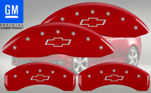 2013 2016 Chevy Sonic Rs Ltz Front Rear Red Mgp Brake Disc Caliper Covers Bowtie