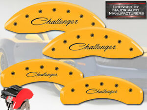 Curs 2015 2016 Dodge Challenger Scat Front Rear Yellow Mgp Brake Caliper Cover