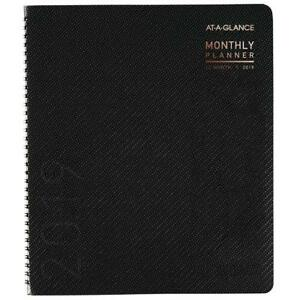 2019 Monthly Planner 9 X 11 Large Contemporary Graphite 70260