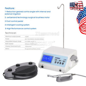 Ups Dental Surgical Implant System Brushless Led Motor Unit Handpiece Kit