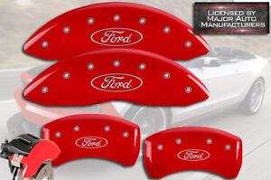 2014 2017 ford Transit Connect Front Rear Red Mgp Brake Disc Caliper Covers