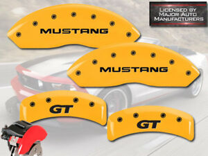 1999 2004 Ford mustang Gt Base Front Rear Yellow Mgp Brake Disc Caliper Covers