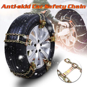 10pcs Wheel Tire Snow Anti Skid Chains For Car Truck Suv Emergency Universal Us