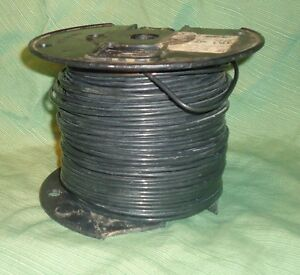 12 Solid Copper Black 600 Volt T90 Nylon twn75 Ym680 590 Insulated Wire Thhn t
