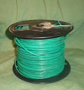 Southwire 23919 12 Solid Copper Green 600 Volt T90 Nylon twn75 Insulated Wire
