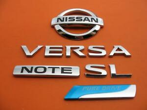 14 15 16 Nissan Versa Sl Note Pure Drive Rear Emblem Logo Badge Sign Symbol Set