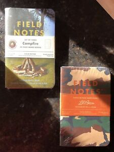 Nip Field Notes Limited Edition Ll Bean Campfire Patch Sealed 3 pack Lot Of 2