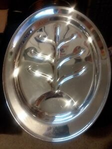 Vintage Silverplate Serving Platter Plate Large Dining