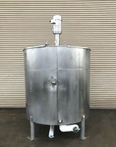 1 000 Gallon Jacketed Ss Processor Tank With Admix Rotostat High Shear Mixer