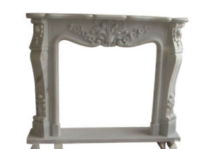 Hand Carved French Style Marble Fireplace Mantel 9845