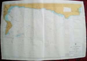 Vintage 1973 Admiralty Marine Chart 2610 Bill Of Portland To Anvil Point
