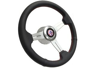 1965 1967 Ford Mustang Cobra S6 Perforated Leather Steering Wheel Brushed Kit
