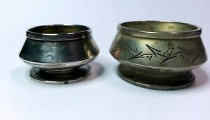 Lot Of 2 1872 1870 Gorham Sterling Silver Individual Open Salts 730 735