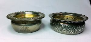Lot Of 2 1890 Xx Gorham Sterling Silver Individual Open Salts 2235 A4647